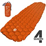EcoTek Outdoors Hybern8 Insulated 4 Season Ultralight Inflatable Sleeping Pad for Hiking Backpacking