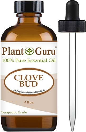 Clove Bud Essential Oil 4 oz 100% Pure Undiluted Therapeutic Grade for Aromatherapy Diffuser, Natural Remedies for Skin, Body, Hair. Great for DIY Candle and Soap Making. (Aromatherapy Clove)