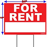 """Large 24"""" x 18"""" - Home For Rent - Yard Sign / Lawn Signage + Ground Stake"""