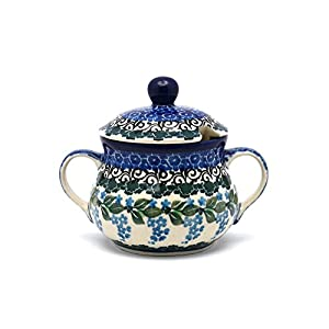Polish Pottery Sugar Bowl – Wisteria