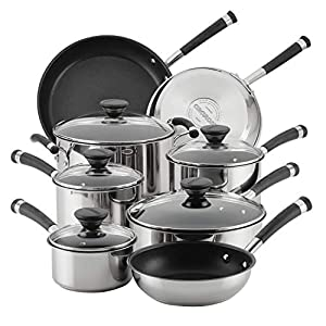 Circulon-70514-Acclaim-Stainless-Steel-Cookware-Pots-and-Pans-Set-13-Piece-Black