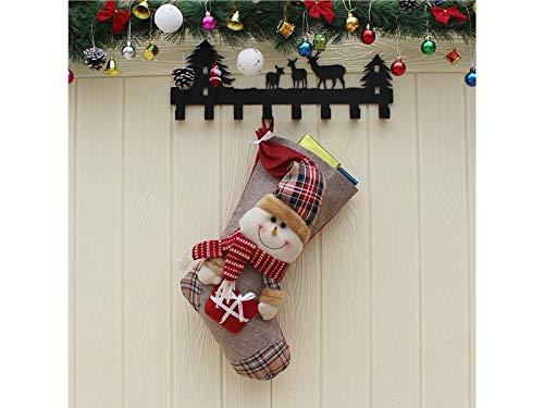 OVIIVO Perfect Snowman Plaid Christmas Socks Candy Bag Bag Christmas Tree Pendant(Multicolor)