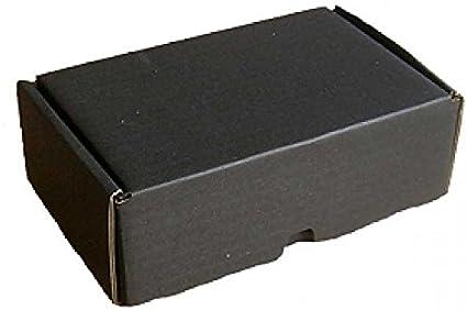 5 cajas de cartón plegables pequeñas para envío, 18 x 12 x 7 cm, 5 unidades, caja de regalo, color negro: Amazon.es: Oficina y papelería