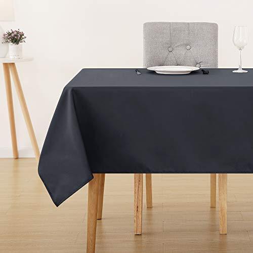 Deconovo Manteles Mesa Rectangular para Comedor 132 x 178 cm Gris Oscuro