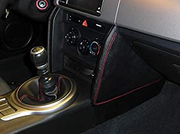 RedlineGoods Knee pad Covers Compatible with Scion FR-S 2012-16 Black Leather-Black Thread