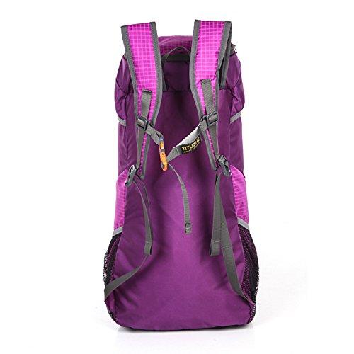 HCLHWYDHCLHWYD-Mujer de la piel plegable Pack ultraligero gran capacidad de bolsa bandolera hombre portátil bolsa de senderismo resistente al agua bolsa de deporte al aire libre , 4 1