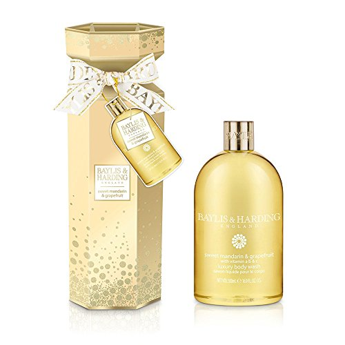 Baylis and Harding Sweet Mandarin & Grapefruit Body Wash Cracker, 880 Gram (Citrus Mint Gel Shower)