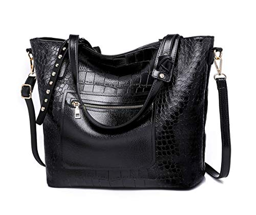 mano clutches de bolsos Shoppers Mujer Fekete y Carteras DEERWORD de Bolsos y bandolera hombro RT1qxf