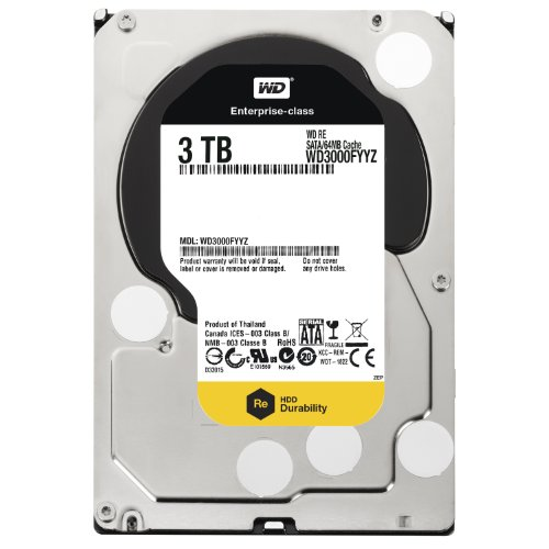 WD RE 3 TB Enterprise Hard Drive: 3.5 Inch, 7200 RPM, SATA III, 64 MB Cache – WD3000FYYZ