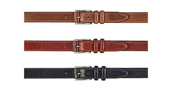 Mens Paddle Board Ribbon Belt with Horween Chromexcel Straight Leather Tab