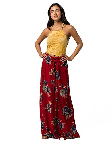 Peace Wrap - Patrons of Peace Floral Wrap Skirt, Red Combo, Small