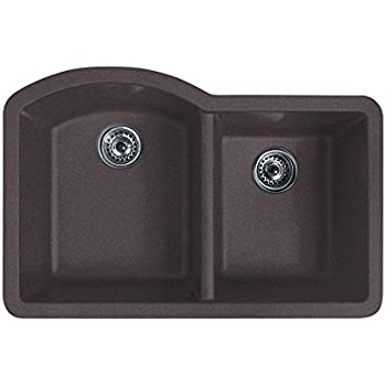 Swanstone QULS-3322.170 32-Inch by 21-Inch Undermount Large/Small ...