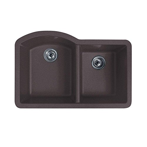 swanstone undermount granite kitchen sink swanstone qudb 3322 077 32 inch by 21 inch undermount 8417