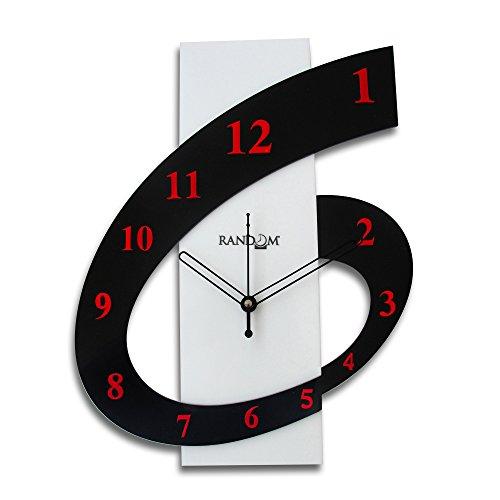 Random Clocks Rectangle Polymer Wall Clock (30 cm x 25 cm x 5 cm) (RC-0114)