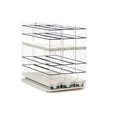 Vertical Spice - 222x2x10 DC - Spice Rack (Shallow) - Cabinet Mounted- 3 Drawers - 30 Capacity - New and Unique