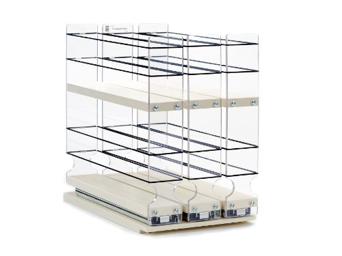 Vertical Spice - 222x2x11 DC - Spice Rack - Cabinet Mounted- 3 Drawers - 36 Capacity - New and Unique