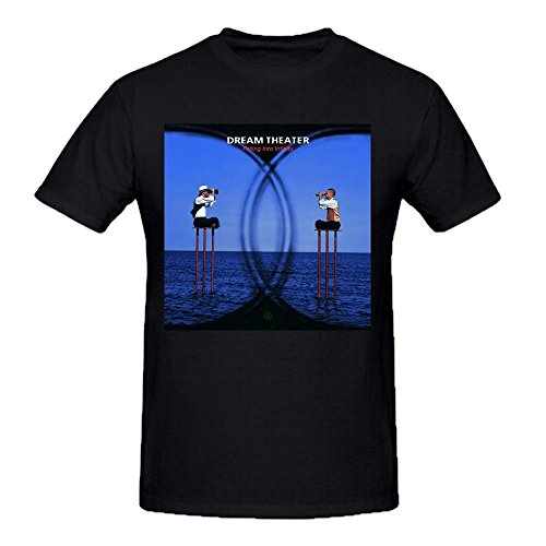 - Dream Theater Falling Into Infinity Summer T Shirts For Men Round Neck Black