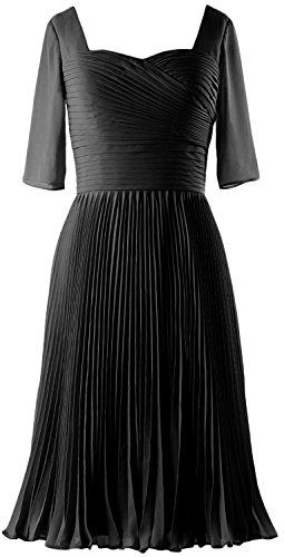 MACloth -  Vestito  - linea ad a - Senza maniche  - Donna nero 36