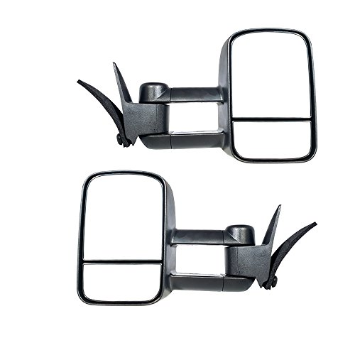 K1500 Suburban Replacement Mirrors - Make Auto Parts Manufacturing Set of 2 Left And Right Side Towing Mirrors Manual Operated For Chevy/GMC C/K 1988-2000 - GM1320123-GM1321123