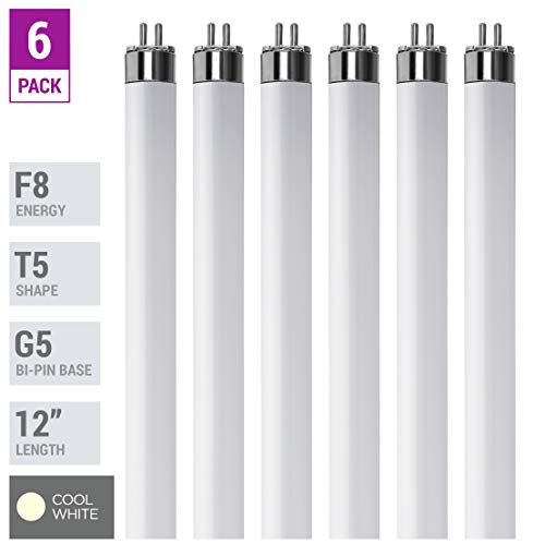 (Pack Of 6) F8T5/CW - T5 Fluorescent 4100K Cool White - 8 Watt - 12