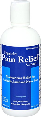 Topricin Pain Relief Therapy Cream   8 Oz   For Arthritis  Back Pain  Fibromyalgia  Sciatica  Plantar Fasciitis  Sore Muscles   Joints  Carpal Tunnel   Chronic Pain