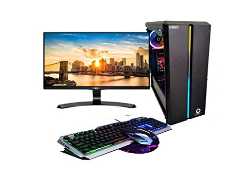 CHIST Extreme Gaming Pc Intel Core i5 9th Gen 8GB Ram 240GB SSD 1TB Hard Disk 4GB Graphic Card Samsung 22 inch IPS Panel Full HD Monitor Gaming Keyboard Mouse