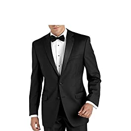 Carlo Lusso Men's Single Breasted 2 Button Front Notch Lapel Tuxedo Suit Set