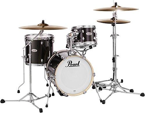 Pearl Midtown MDT764P/C701 4 Piece Drum Shell Pack, Black Gold Sparkle -
