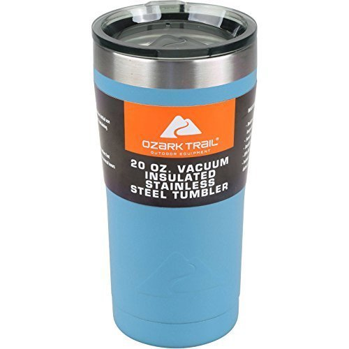 Ozark Trail 20-Ounce Double-Wall Vacuum-Sealed Powder Coated Blue Tumbler by Ozark Trail