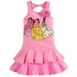 Disney Store Deluxe Multi Princess Cover-Up Swimsuit Ariel Belle Tiana (XS Extra Small 4)