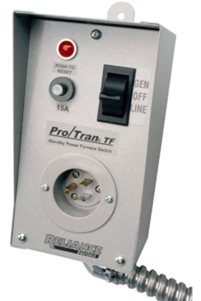 Amazon.com: Reliance Controls TF151W Easy/Tran Transfer Switch for  Generators, Small, Gray: Garden & OutdoorAmazon.com