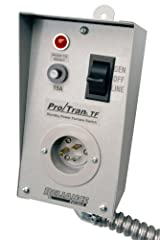 The Reliance Controls TF151W Easy/Tran Transfer Switch is easy to install and easy to use. It is ideal for controlling a single 15 Amp circuit, such as a forced-air furnace. The transfer switch ensures that you can safely use back up power du...
