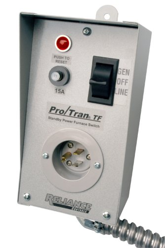 Reliance Controls TF151W Easy/Tran Transfer Switch for Generators, Small, Gray by Reliance Controls