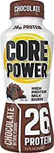 Core Power by fairlife High Protein (26g) Milk Shake, Chocolate, 11.5-ounce bottles, 12 Count