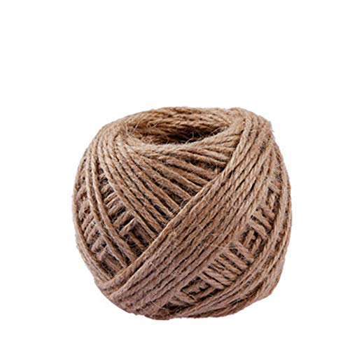 ❤️MChoice❤️40m Roll Jute String Hemp Rope for Bracelet Necklace DIY Decor New (Brown)