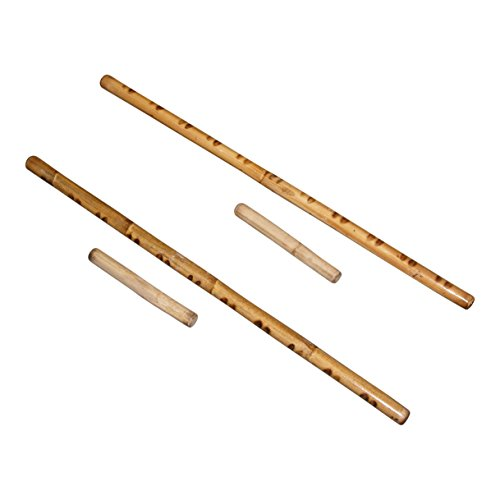 Deluxe Filipino Syatong Chato Game – 2 Rattan Stick Sets: 2pc – 29″ & 2pc – 8″ larong, pinoy