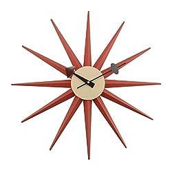 Kardiel George Nelson Sunburst Clock, Orange