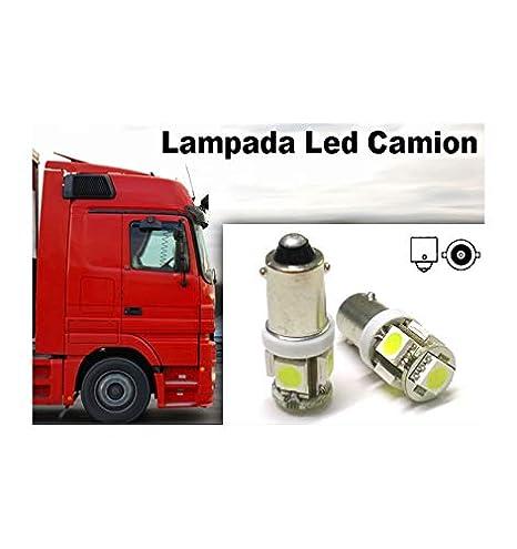 Lampada Led BA9S 24 V T4W 5 Smd 5050 Luces led blancas para camión: Amazon.es: Coche y moto