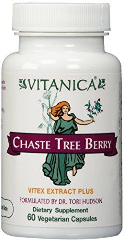 Vitex Chaste Tree Berry - Vitanica - Chaste Tree Berry - Vitex Extract Plus - 60 Vegetarian Capsules