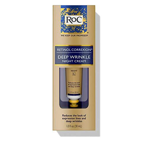 RoC Retinol Correxion Deep Wrinkle Anti-Aging Retinol Night Cream, Oil-Free and Non-Comedogenic, 1 Fl Oz