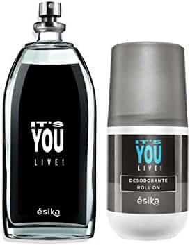 It's You Live! Unisex by Esika, Eau de Toilette 3.4 fl. oz. and Antiperspirant Roll-On Deodorant 1.7 fl.oz.