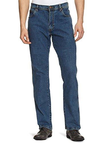 Wrangler Men's Texas Stretch Denim Jeans Stonewash 44W X 36L Blue (Darkstone, Mild Blue)