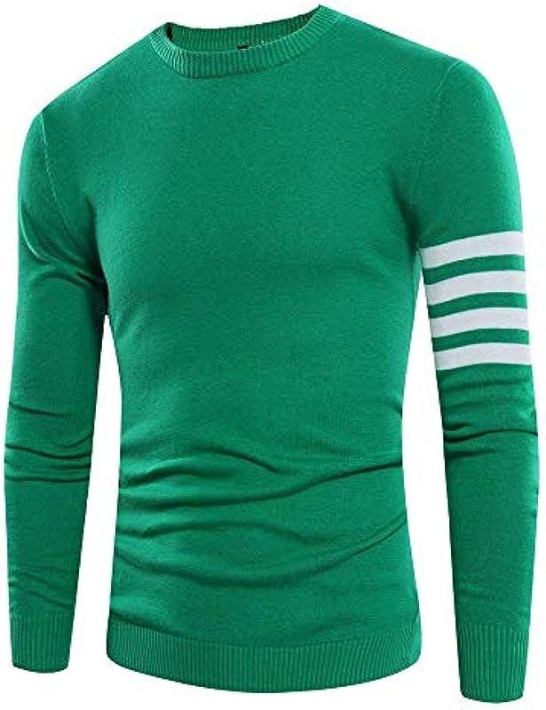 Męski sweter sweter jesienny dzianina długi rękaw sweter elegancki splice nowoczesne luźne paski Slim Fit sweter dziergany sweter: Odzież