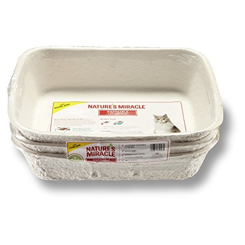 Litter Boxes Nature's Miracle Disposable Litter Box, Regular, 3-Pack, New by Nature's Miracle