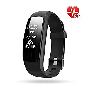 ETCBUYS Fitness Tracker with Heart Rate Monitor H7-HR Activity Tracker Wireless Bluetooth Smart Wristband Bracelet for Men and Women, Fitness Watch with Extra Band for Android & IOS