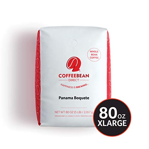 Coffee Bean Direct Panama Boquete, Whole Bean Coffee, 5-Pound Bag