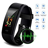 Smart Watch, Waterproof Fitness Tracker with Pedometer for Walking, Heart Rate Monitor, Blood Pressure Monitor, GPS Tracker, Calories Counter, Sleep Monitor, Call/SMS Alert for Women Kids and Men