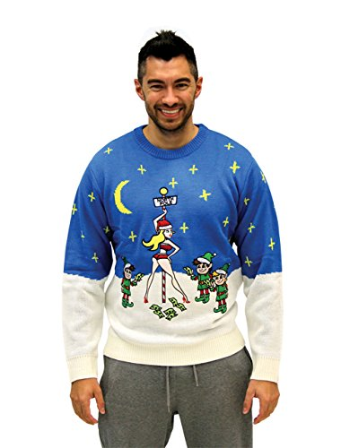 Costume Agent Ugly Christmas Stripper Pole Adult Sweater (Adult -