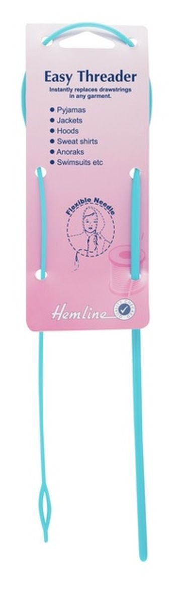 Hemline H219 Extra Long, Strong & Flexible Plastic Needle Easy Threader Groves