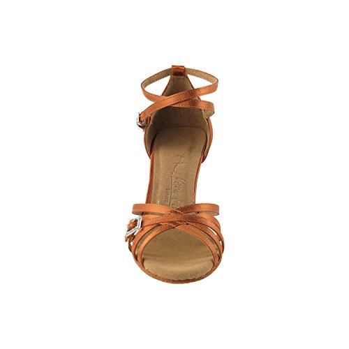 """Gold Taube Schuhe 50 Shades Of Tan Tanzschuhe, Komfort Abendkleid Hochzeit Pumps: Ballroom Schuhe für Latein, Tango, Salsa, Swing, Kunst von Party Party (2,5 """"& 3"""" Heels) 1137 - Dunkelbraun Satin"""